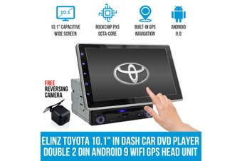 """Elinz Toyota 10.1"""" In Dash Car DVD Player Double 2 DIN Android 9 WiFi GPS Head Unit"""
