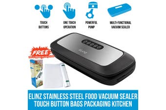 Elinz Stainless Steel Food Vacuum Sealer 4X EXTRA Rolls Packaging Storage Saver Kitchen