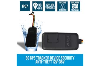 Elinz 3G GPS Tracker Real Live Tracking Device Security Vehicle Car Anti-Theft 12V-36V without Sim