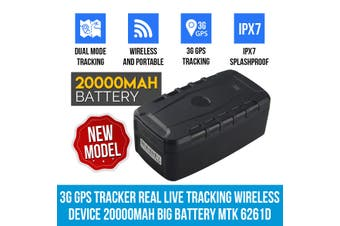 Elinz 3G GPS Tracker Real Live Tracking Wireless Device 20000mAh Big Battery Magnet without Sim