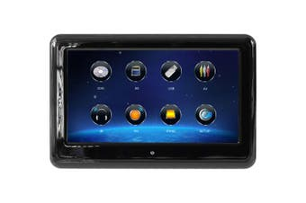 "Elinz 9"" TFT Touch Screen Headrest Car DVD Player Active Slim Full HD 1080P Games USB Ultra-Thin Black"