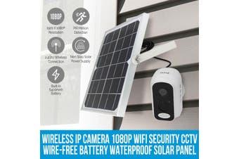 Elinz Wireless IP Camera 1080P WiFi Security CCTV Wire-Free Battery Waterproof Solar Panel
