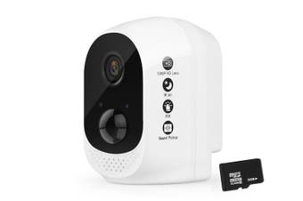 Elinz 1080P Rechargeable Battery Outdoor WiFi Wire-free Security IP Camera Wireless Indoor CCTV 32GB