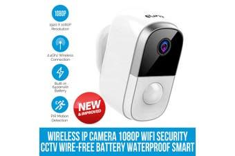 Elinz Wireless IP Camera 1080P WiFi Security CCTV Wire-Free Battery Waterproof Smart