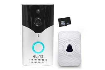 Elinz Wireless WiFi Doorbell Intercom Security Camera HD 1080P Alexa Echo Google Home Two-Way Talk 32GB