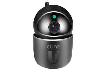 Elinz WiFi IP Security Camera Smart Auto Tracking HD Wireless Pan Tilt CCTV 1080P Black