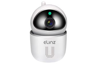 Elinz WiFi IP Security Camera Smart Auto Tracking HD Wireless Pan Tilt CCTV 1080P White