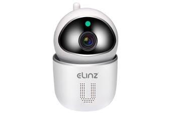 Elinz WiFi IP Security Camera Smart Auto Tracking HD Wireless Pan Tilt CCTV 1080P White