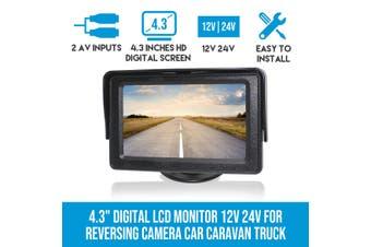 """Elinz 4.3"""" Digital LCD Monitor 12V 24V for Reversing Camera Car Caravan Truck"""