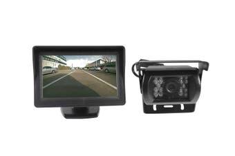 """Elinz 4.3"""" Monitor+24v/12v CCD LED Reversing Camera Car Caravan Truck Night Vision"""
