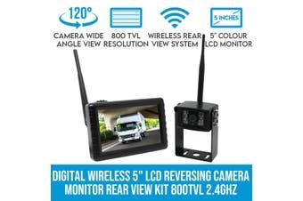"Elinz Digital Wireless 5"" LCD Reversing Camera Monitor Rear View Kit 800TVL Night Vision 2.4GHz"