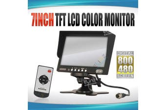 "Elinz 7"" Monitor HD 12V/24V with 2 AV inputs 4PIN advanced"
