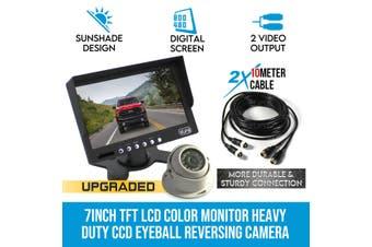 """Elinz 7"""" Monitor HD 12V/24V Reversing CCD Eyeball Camera Truck Caravan"""