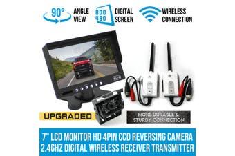 "Elinz 7""LCD Monitor HD 4PIN CCD Reversing Camera Digital Wireless Receiver Transmitter"