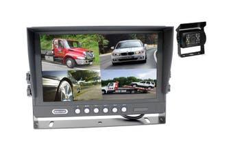 "Elinz 9"" Splitscreen Monitor 4PIN Colour CCD IR Rearview Reversing 1x Camera Package"