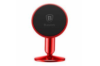 Genuine Baseus Universal Car Mobile Smart Phone Holder Stand Mount Bracket 360deg Magnetic RED Elinz