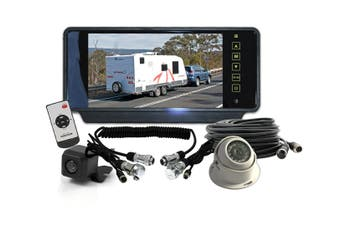 """Elinz 7"""" Rearview Monitor Caravan 2 Reversing Camera 4PIN System Kit CCD Trailer cable"""
