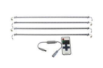 Elinz 4x 1M LED Strip Light Bar Rigid Bars Magnet 12V Waterproof SMD 5630 + RF Remote