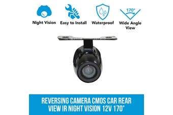 Elinz 170deg Reversing Camera CMOS Car Rear View IR Night Vision 12V Elinz