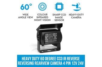 Elinz Heavy Duty 60 Degree CCD IR Reverse Reversing Rearview Camera 4 PIN 12V 24V