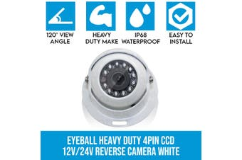 Elinz 4 PIN Heavy Duty Caravan CCD IR Colour Reversing Camera