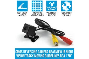 Elinz CMOS Reversing Camera Rearview IR Night Vision Track Moving Guidelines RCA 170deg
