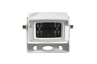 Elinz 4 PIN Heavy Duty white 12V 24V CCD IR Colour Reversing Camera Rearview with Built-in Mic