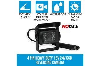 Elinz 4 PIN Heavy Duty 12V 24V CCD IR Colour Reverse Reversing Camera Rearview