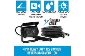 Elinz 4 PIN Heavy Duty 12V 24V CCD IR Colour Reversing Camera