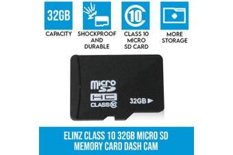 Elinz Class 10 32GB Micro SD Memory Card Dash Cam