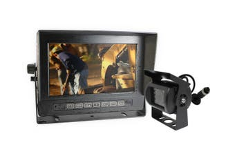 """Elinz Waterproof 7"""" Monitor HD 12V/24V Reversing CCD Camera Mining Vehicle Truck Caravan Boat"""