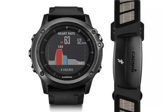 Garmin Fenix 3 Multisport GPS Watch (Hrm Bundle) Grey *With Full Aust Warranty*