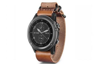 Garmin Fenix 3 Nato Multi-Sport GPS Watch Sapphire With Leather Band