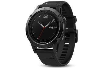 Garmin Fenix 5 Black Sapphire Multisport GPS Watch 47mm Case Black Band
