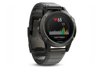 Garmin Fenix 5 Slate Grey Sapphire Multisport GPS Watch 47mm Case Metal Band