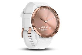 Garmin Vivomove HR Sport Smartwatch Rose Gold White Small Medium