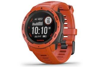 Garmin Instinct HRM GPS Sport Watch Flame Red