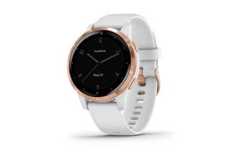 Garmin Vivoactive 4S GPS Smart Watch White/Rose Gold
