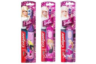 3 x Colgate Barbie Battery Powered Toothbrush - Randomly Selected