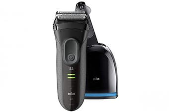 Braun 3050CC Rechargeable Shaver w/ Cleaning & Charging Station