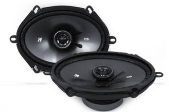 """Kicker 43CSC684 6x8"""" 2-Way 75W RMS Coxial Car Audio Speakers"""
