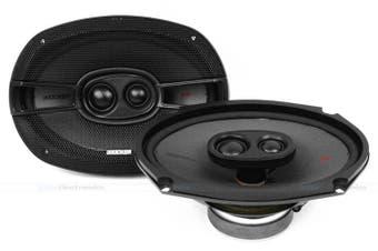 "Kicker 44KSC69304 6x9"" 150W RMS 3-Way Coaxial Car Speakers"