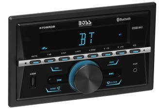 Boss Audio 470BRGB Bluetooth AM FM Radio Car Receiver Multi Color