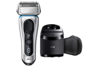 Braun 8370CC Electric Shaver Series 8 Wet & Dry Clean & Charge System