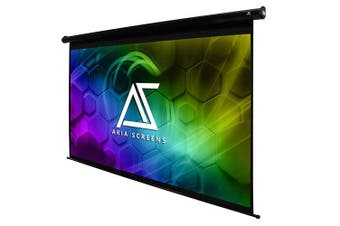 "Akia Screens 110"" 16:9 4K Electric Motorized Projector Screen"