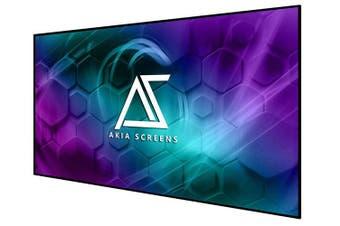 "Akia Screens 125"" Edge Free Fixed Projector Screen 16:9 Home Theater"