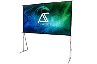 """Akia Screens 145"""" Indoor Outdoor Portable Projector Screen with Stand"""
