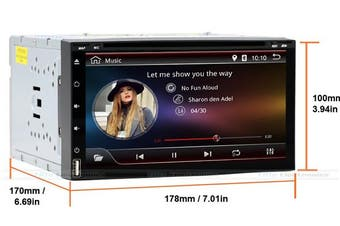 """Android DVD 7"""" Touch Display GPS Bluetooth 3G WiFi Apps Receiver"""