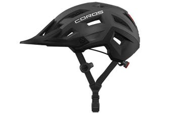 Coros SafeSound Mountain Smart Cycling Bluetooth Helmet Tail Light Grey Large