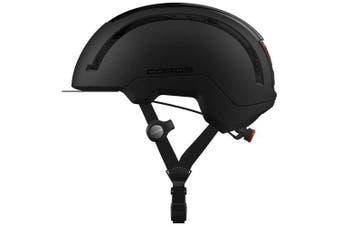 Coros SafeSound Urban Smart Cycling Bluetooth Helmet Tail Light Black Small